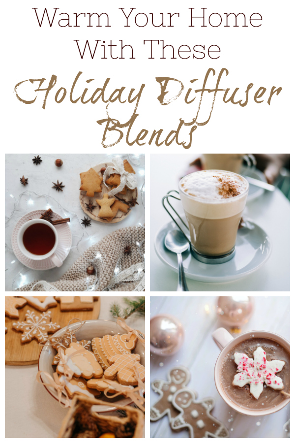 Amazing holiday diffuser blends filled with warm spicy scents like cinnamon, clove, and nutmeg