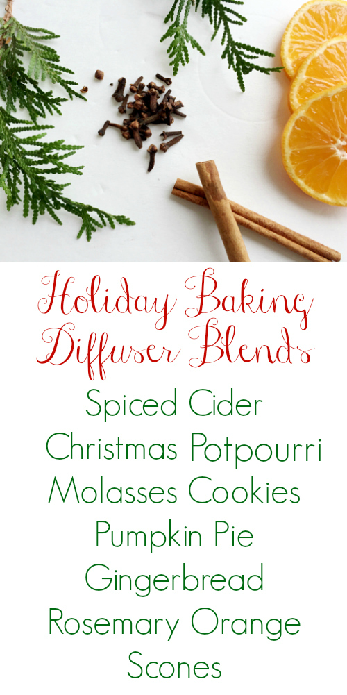 These holiday diffuser blends are amazing! I'm definitely trying them all.