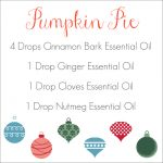 Holiday Diffuser Blends Pumpkin Pie