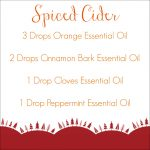 Holiday Diffuser Blends Spiced Cider