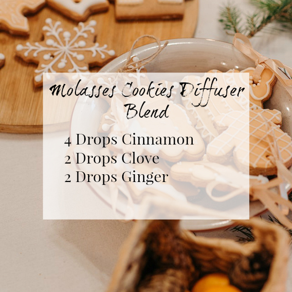 Molasses Cookie Diffuser Blend smells amazing with cinnamon, clove, & ginger