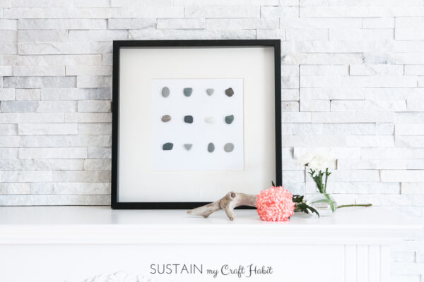 Framed Stone become free wall decor via Sustain My Craft Habit