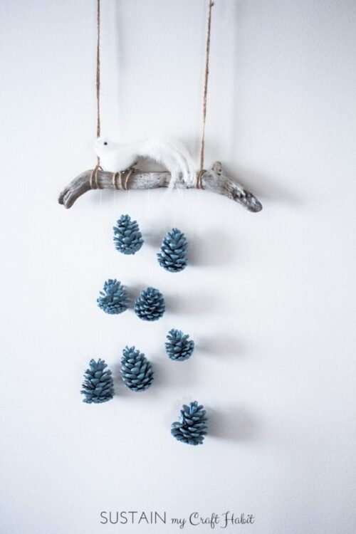 Painted Pinecones become free wall decor via Sustain My Craft Habit