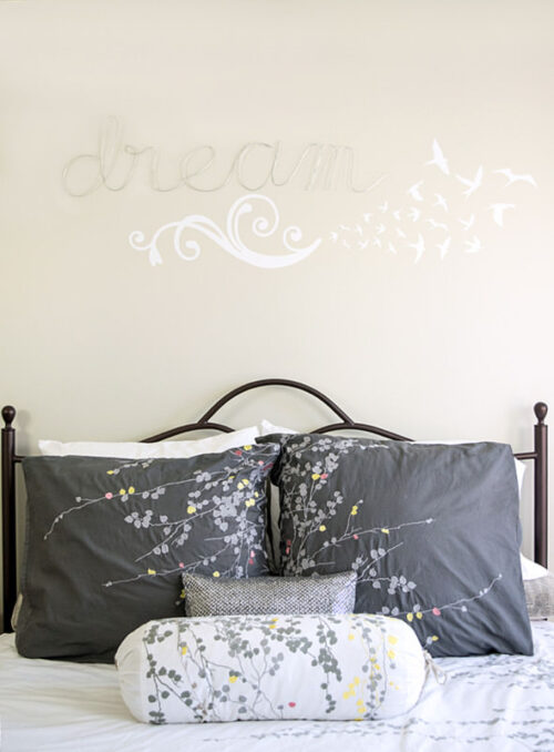 Wire is used to create words as wall decor via Craving Some Creativity