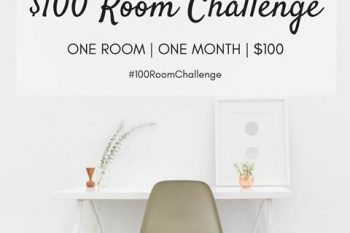 Love this idea of making over rooms with a $100 budget. So many great ideas!
