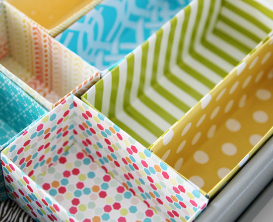 Organize with what you have! Cereal Box Drawer Dividers.