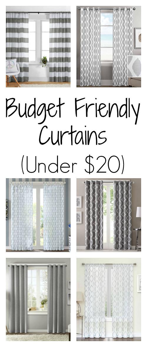 Cheap Curtains all under $20!