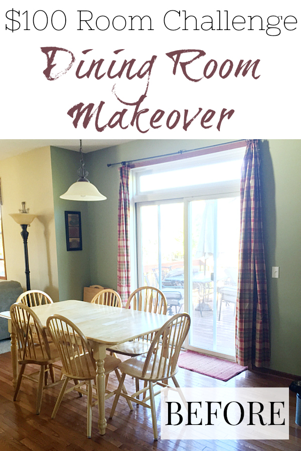 This $80 Dining Room Makeover includes new paint, new curtains, cute farmhouse wall decor, and a table makeover. This is a must-see!