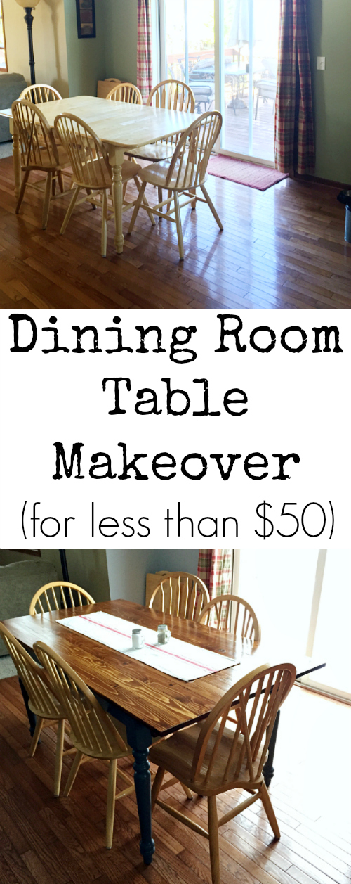 DIY Dining Room Table using what you already have. What a great idea!