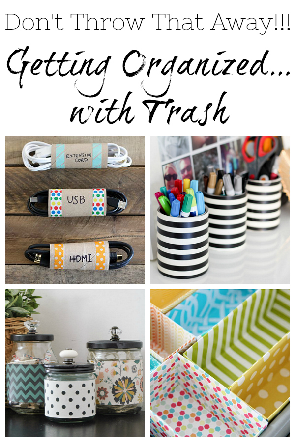 Don't throw out those toilet paper rolls! You can use them to get organized. Check out these amazing ways to use trash for organization!