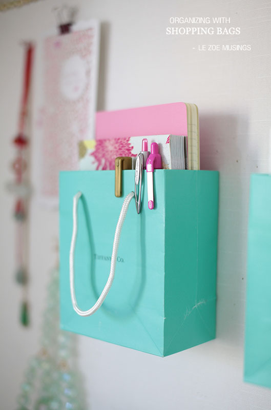 Use small bags to organize journaling items, grocery lists, and more. Via Le Zoe Musings