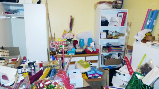 Taking on this craft space with only $100! Love the ideas for getting this space organized!