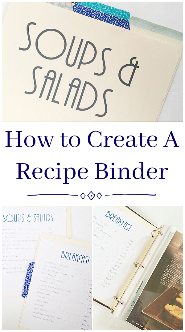How to Create A Recipe Binder