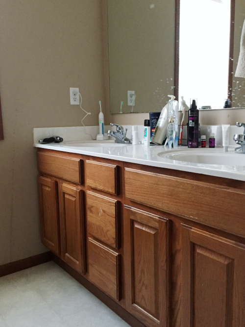 Love these plans for this $100 Master Bathroom Makeover