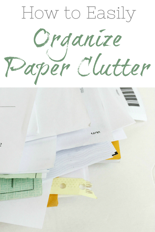 A great system to organize paper clutter and keep it off your counter tops!