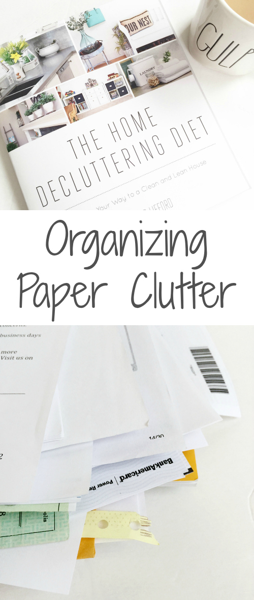Simple ideas for paper clutter organization!