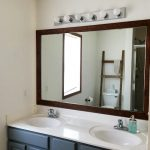 DIY for Less: Framing A Builder Grade Bathroom Mirror for $20