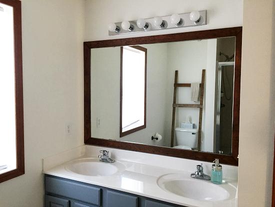 Love this barnwood framed mirror!