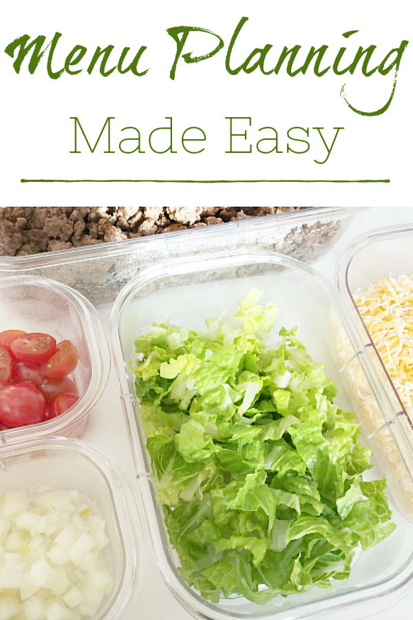 Great ideas for making meal planning easier.