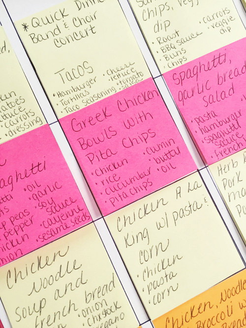 Love these ideas for making menu planning easier!