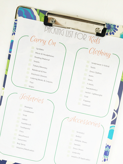 Love these printable packing lists!!!