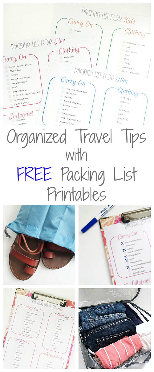 Awesome tips for staying organized while traveling.