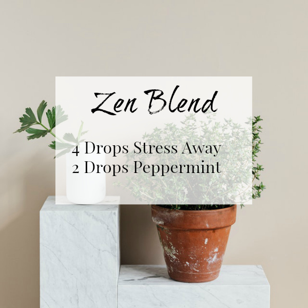 Zen Diffuser Blend with a combination of Stress Away and Peppermint