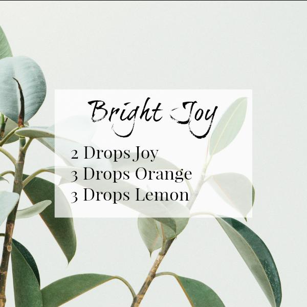 Bright Joy Diffuser Blend Combines Joy, Orange, and Lemon