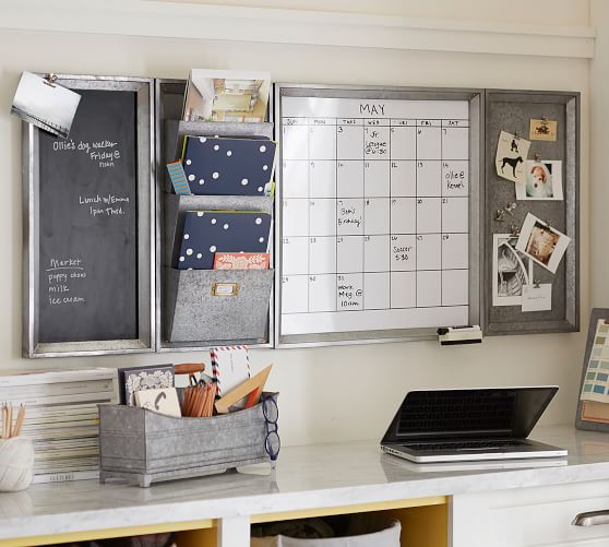 Galvanized Command Center from Pottery Barn