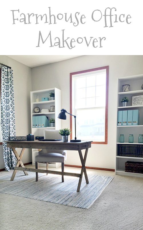 This farmhouse office makeover is incredible!