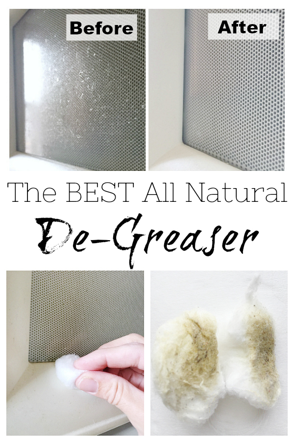 Instead of using soap and water to try and clean greasy grime, try this all-natural de-greaser. Unlike soap and water that just smears grease around, this method easily removes grease.