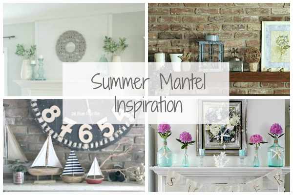 Love these ideas for decorating the fireplace mantel.