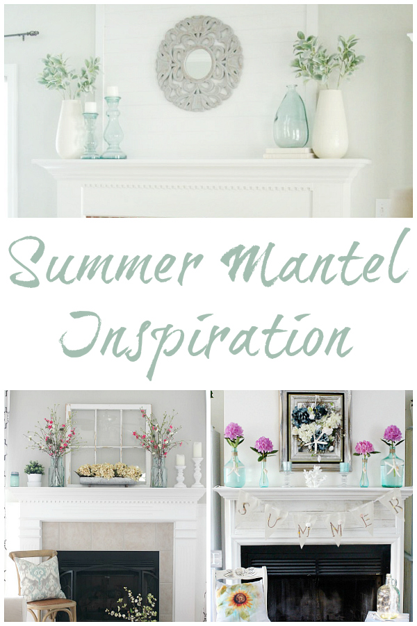 Gorgeous inspiration for creating a summer mantel