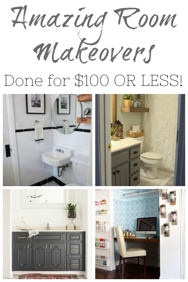 Not only are these room makeover INCREDIBLE... they were all done for $100 or less!