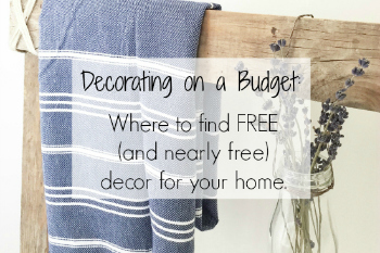 Decorating on a Budget: Where to Find Free (and Nearly Free) Decor