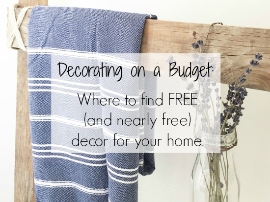 I never knew you could get FREE PAINT! These tips for decorating on a budget are amazing!