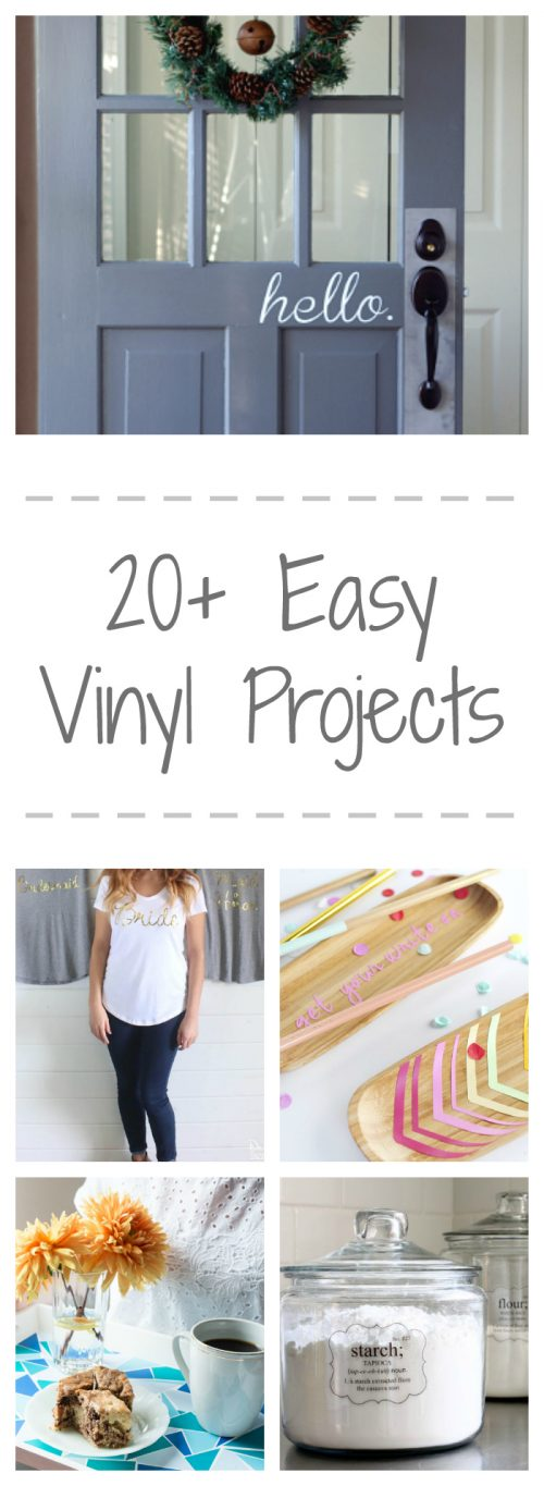 LOVE these DIY Vinyl Projects!