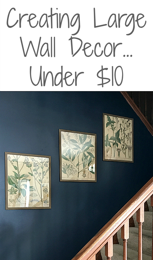 Love this idea for cheap wall decor!