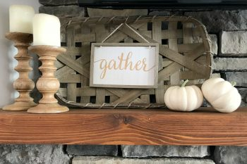 Fall Festival Blog Tour: Fall Fireplace Mantel