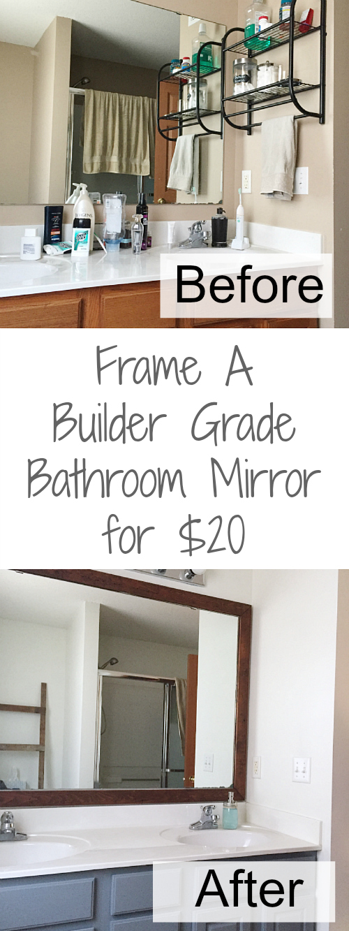 Great tutorial for framing a mirror. Love how budget-friendly this project is!