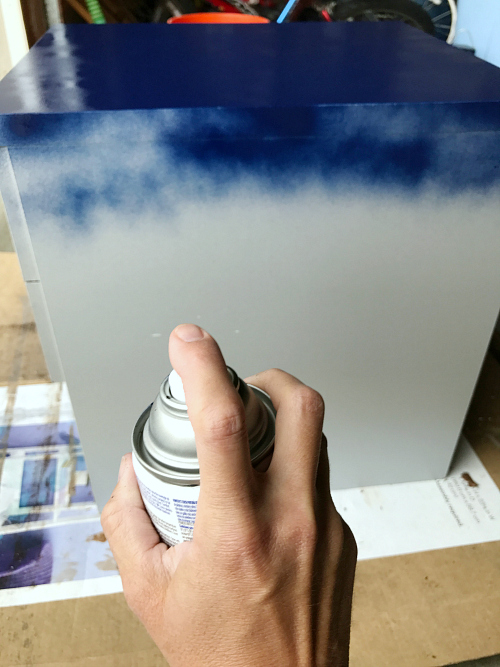 Love the idea of using spray paint to makeover furniture. So easy and cheap!