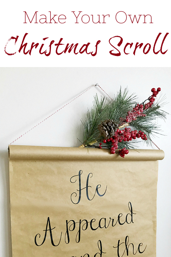 DIY Christmas Scroll from a roll of kraft paper!