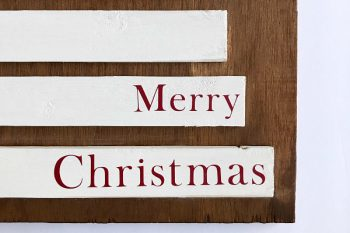 DIY For Less: Scrap Wood Christmas Tree Sign