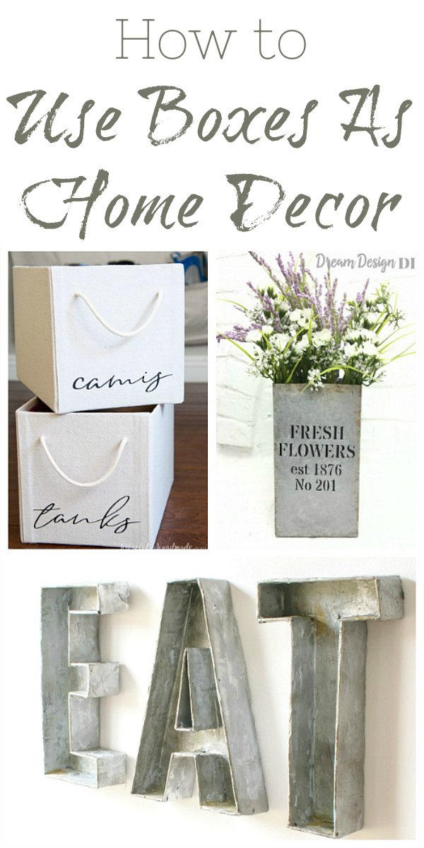 These DIYs all use a typical cardboard box and turn it into beautiful home decor.