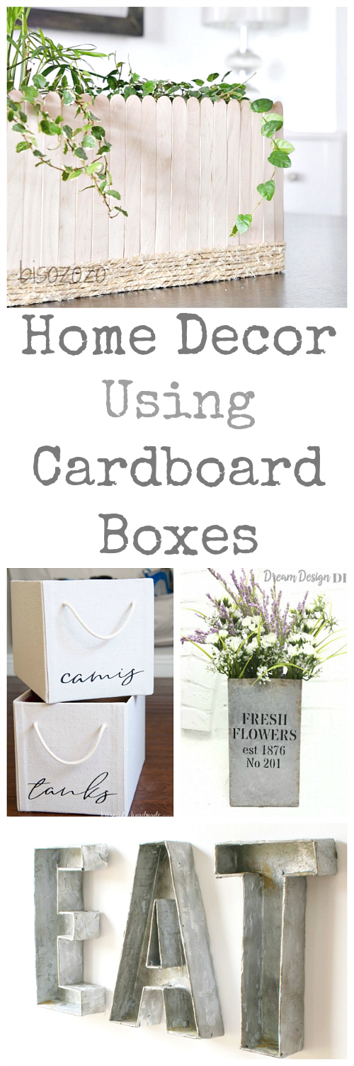 Such creative ways to turn boxes into decor! #homedecor #boxes