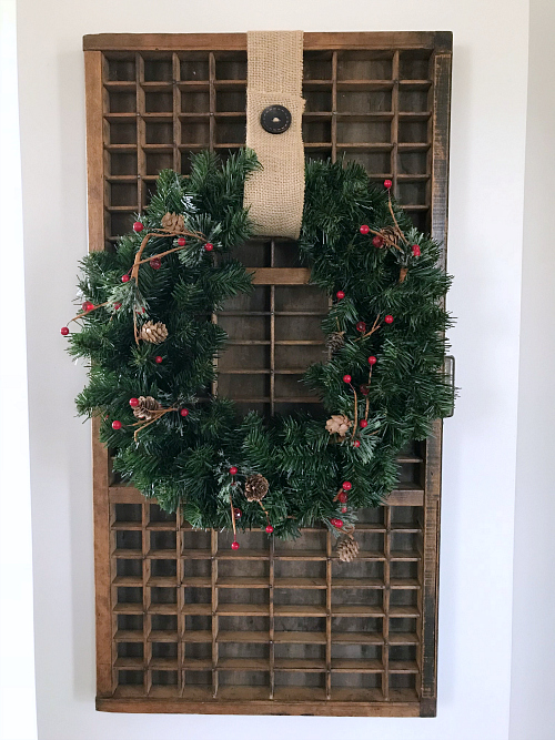 Printer Tray with Christmas Wreath