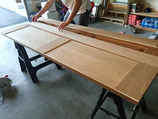 Creating A Barn Door from Bifold Doors - Lemons, Lavender