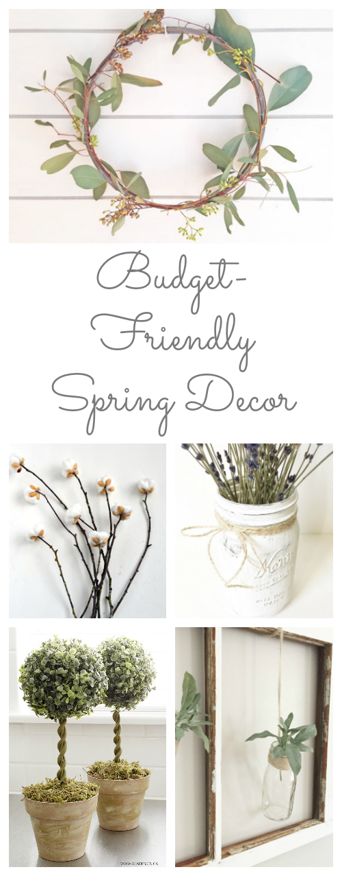 So many amazing ideas for budget friendly spring decor!