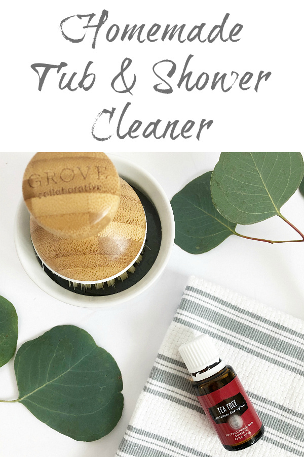 DIY Shower Cleaner recipe that works on tub and shower walls and floors.