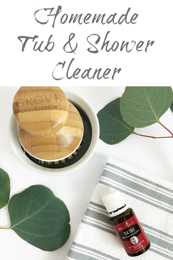 Easy Homemade Shower Cleaner. This recipe is SO easy to make and does a great job cleaning both showers and tubs!